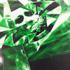 PS4 Folie / Sticker Green Skull 196