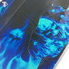 PS4 Folie / Sticker Skull Blue Fire 199