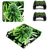 PS4 Slim Folie-Sticker Weed 539