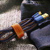 UGREEN USB 2.0 Jeans Kabel Typ A - B Micro 2m Navy Blue
